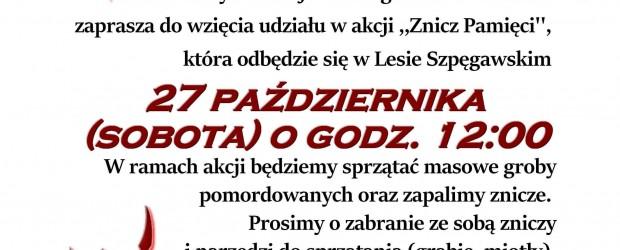 Starogard Gdański – Akcja Znicz Pamięci 2018, 27 października,