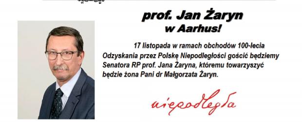Aarhus – Zaproszenie na spotkanie z Senatorem RP Janem Żaryn