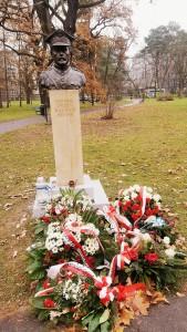 """Popiersie generała Józefa Hallera Parku Jordana w Krakowie. (Foto. Fundacja Klubów """"Gazety Polskiej"""")"""