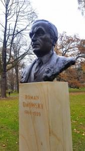 """Popiersie Romana Dmowskiego w Parku Jordana w Krakowie (Foto. Fundacja Klubów """"Gazety Polskiej"""")"""