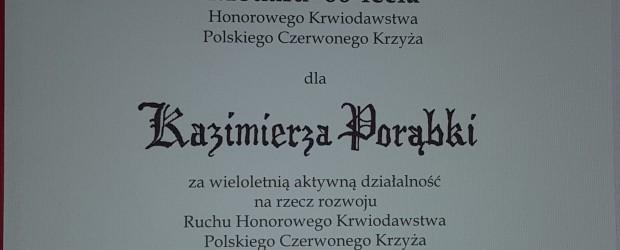 Gliwice: członek Gliwickiego Klubu GP został odznaczony medalem 60 lecia Honorowego Krwiodawstwa PCK.