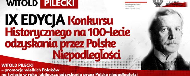 WITOLD PILECKI – IX EDYCJA Konkursu Historycznego na 100-lecie odzyskania przez Polskę Niepodległości