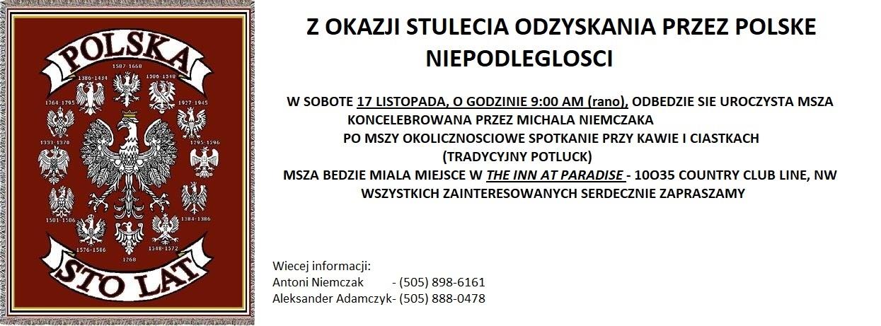 Kluby Gazety Polskiej New Mexico Usa Zaproszenie Na Mszę śwz