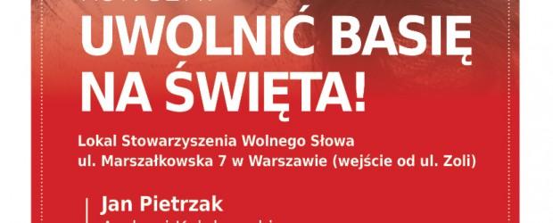 """Warszawa: Zaproszenie na koncert """"Uwolnić Basię na święta"""" (2 grudnia godz. 18:00)"""