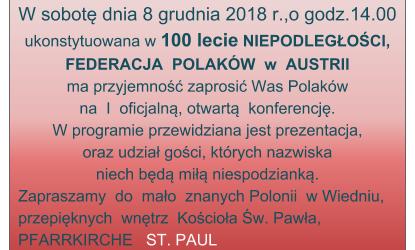 Wiedeń II: Zaproszenie na konferencje (8 grudnia godz. 14:00)
