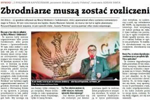 """GPC: Zbrodniarze muszą zostać rozliczeni-wywiad z Ryszardem Kapuścińskim, Prezesem Klubów """"GP"""""""
