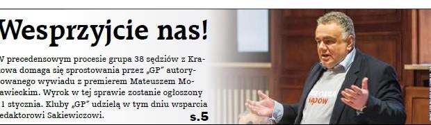 """Kluby """"Gazety Polskiej"""" wesprą Sakiewicza"""