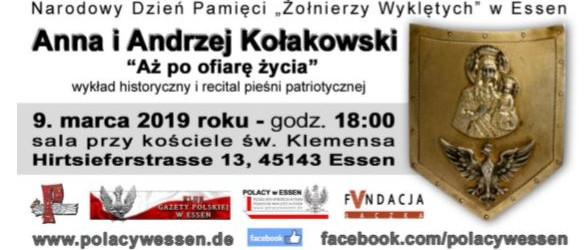 """Essen: Zaproszenie –  """"Polski Wieczór w Essen"""".  Wykład Anny Kołakowskiej  9 marca"""