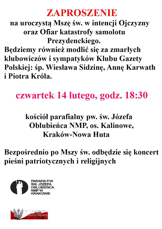 Krakow Nowa Huta - msza 2018