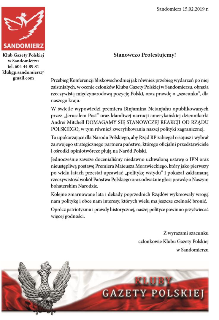 Sandomierz - Protest