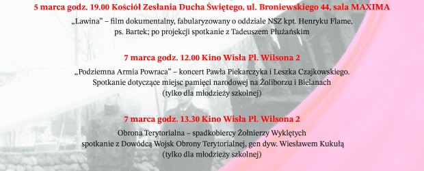 Warszawa Bielany-Żoliborz: Zaproszenie – Dni Pamięci Żołnierzy Wyklętych