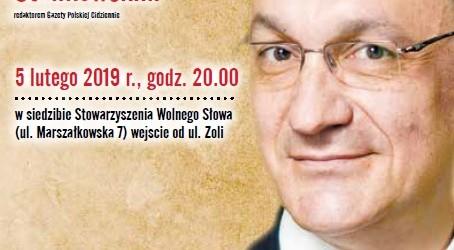 Klub Młodych Gazety Polskiej Warszawa – spotkanie z Adrianem Stankowskim, 5 lutego
