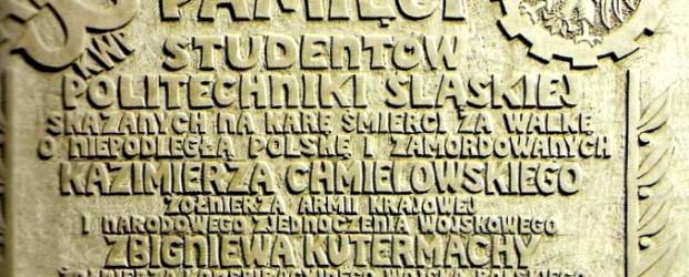 Gliwice: Tablica na Chemii Politechniki Śląskiej