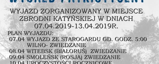 Starogard Gd:  wyjazd patriotyczny – Smoleńsk, Katyń. 7-13.04