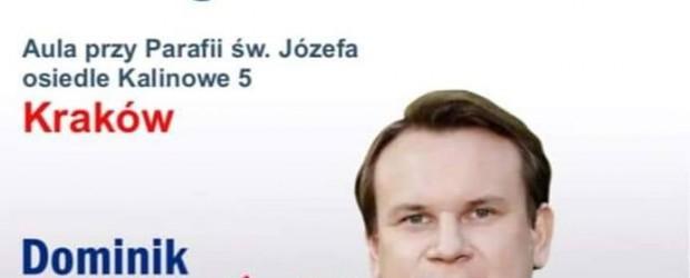 KRAKÓW NOWA-HUTA – spotkanie z Dominikiem Tarczyńskim, posłem na Sejm, 5 kwietnia