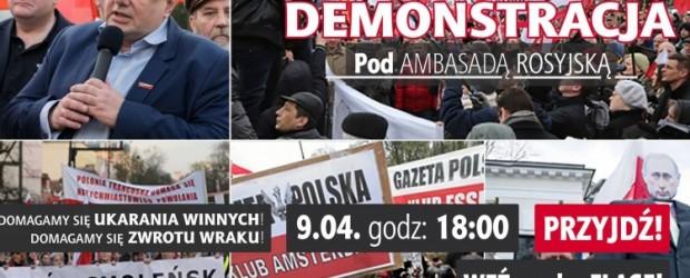Upominamy się o prawdę! Demonstracja pod ambasadą Rosji już 9 kwietnia