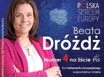 Łowicz: List poparcia kandydatki Beaty Dróżdż w wyborach do Parlamentu Europejskiego