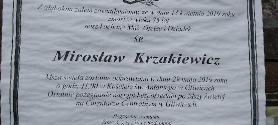 Gliwice:  Pożegnanie śp. Mirosława Krzakiewicza