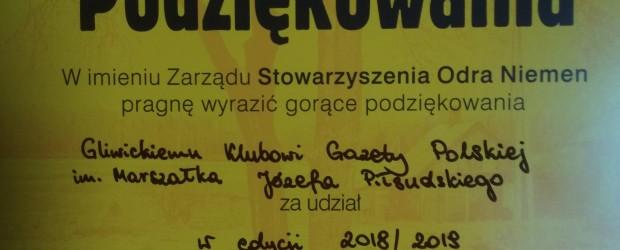 Gliwice – Podziękowania dla Klubu GP w Gliwicach