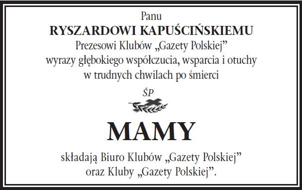 Krakow Kondolencje RK