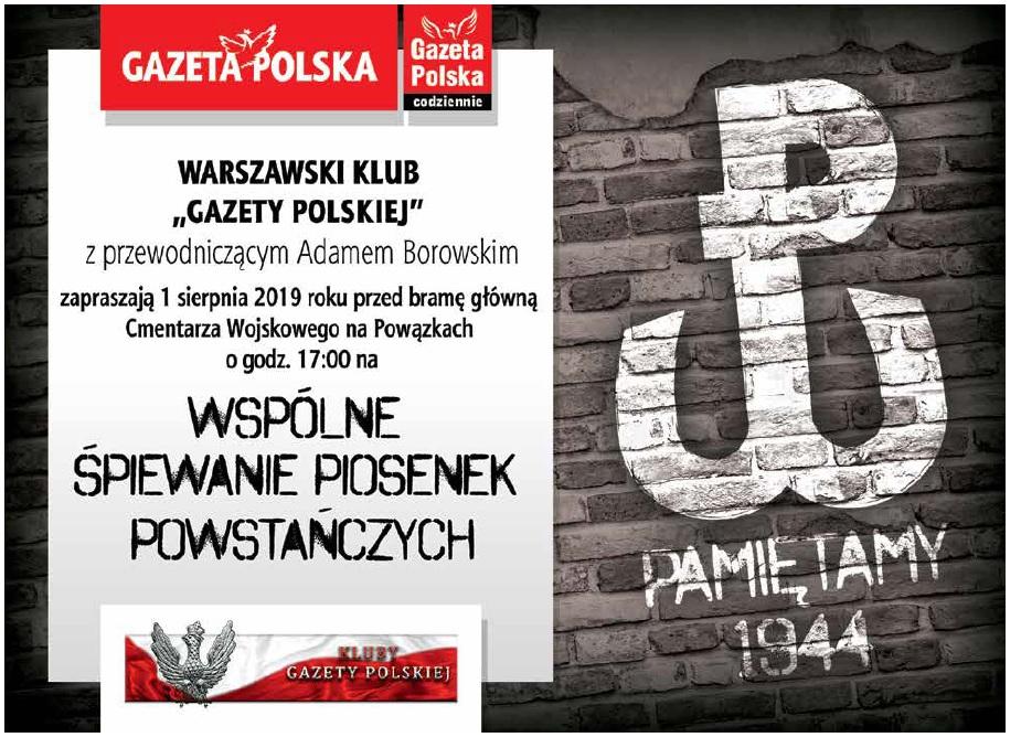 Warszawa 1 sierpnia 2019