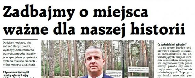 """WYWIAD \ Z MICHAŁEM ZIELIŃSKIM, członkiem obornickiego klubu """"Gazety Polskiej"""", rozmawia MAGDALENA NOWAK"""
