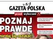 """Od środy specjalny dodatek do """"GP""""! """"Gazeta Polska przed wyborami"""" w 2 milionach egzemplarzy!"""