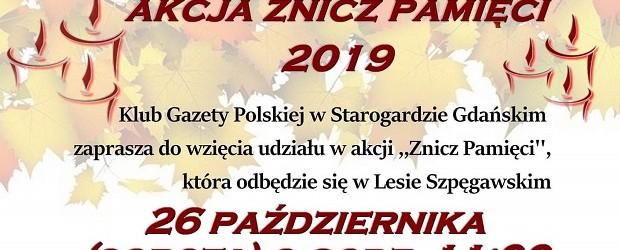 """Starogard Gdański – akcja """"Znicz Pamięci"""", 26 października"""