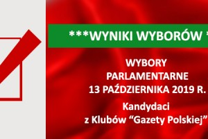 """[WYNIKI WYBORÓW] Wybory parlamentarne 13 października 2019r. – Kandydaci z Klubów """"Gazety Polskiej"""""""