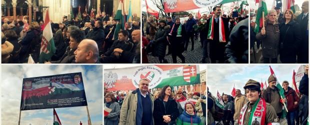 """[Galeria] Węgrzy i Kluby """"Gazety Polskiej"""" wspólnie świętowali rocznicę odzyskania niepodległości"""