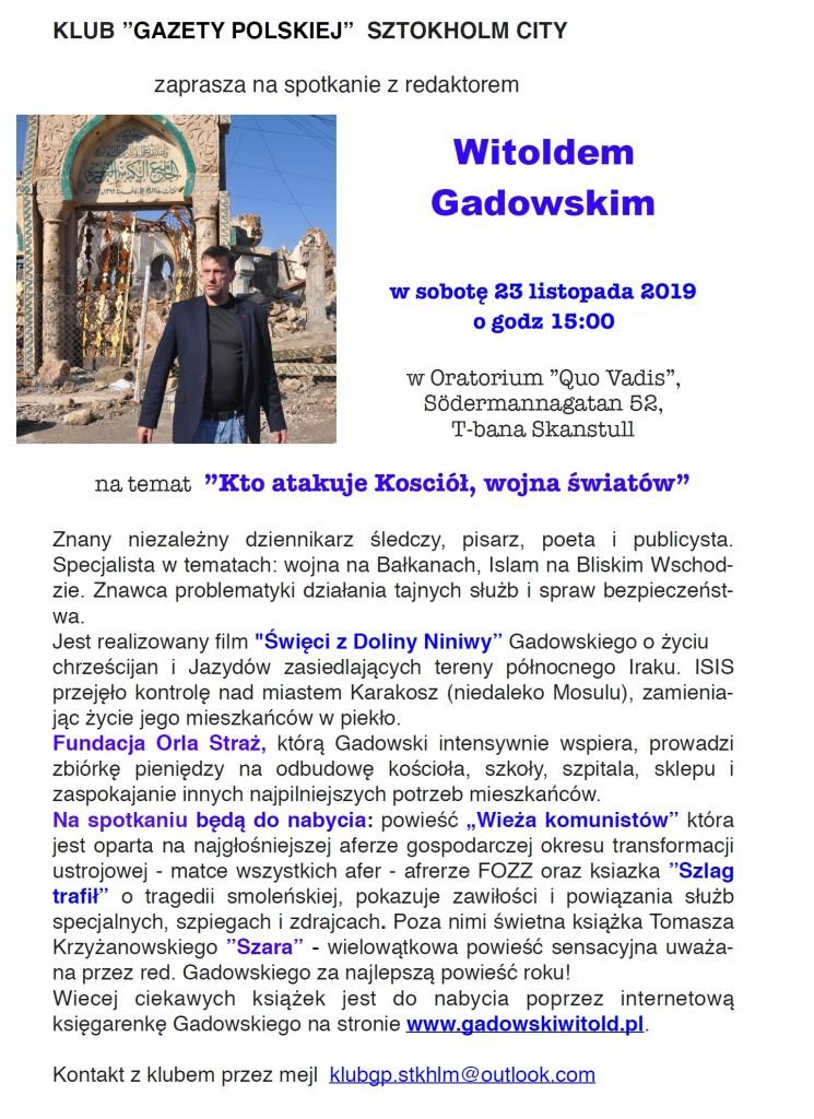 Sztokholm Gadowski 2019