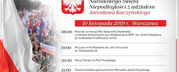 Program społecznych obchodów w przededniu Narodowego Święta Niepodległości