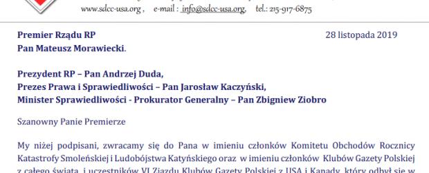 """Kluby """"Gazety Polskiej"""" apelują do premiera. """"Wierzymy, że polska racja stanu i prawda ZWYCIĘŻĄ"""""""