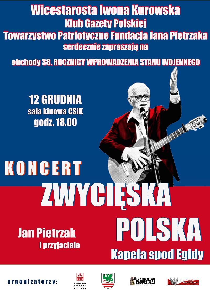 Garwolin koncert Pietrzak 12.12.19