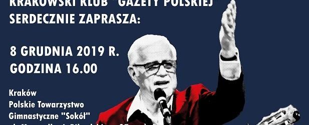 """Kraków – Kraków – koncert Jana Pietrzaka pt.""""Zwycięska Polska"""", 8 grudnia"""