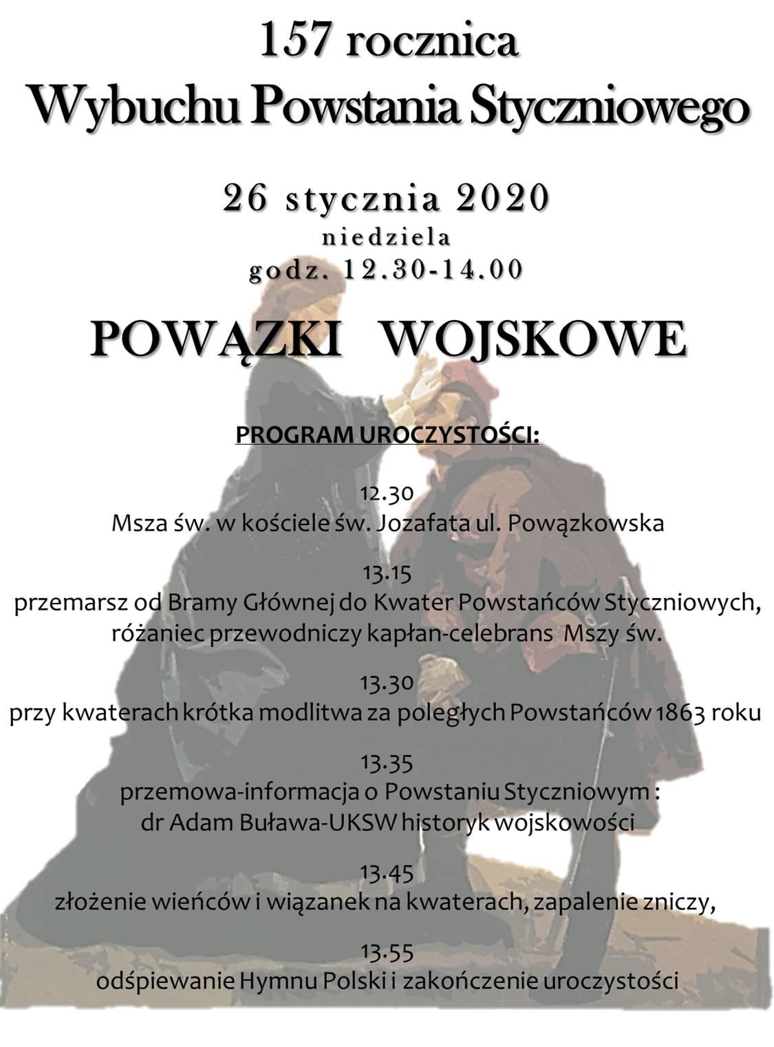 Warszawa Bielany Powstanie styczniowe2020