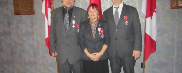 Winnipeg: Odznaczeni w dn. 14.XII.2019 członkowie KGP w Winnipegu