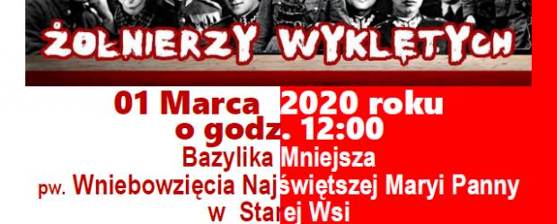 Zaproszenie: Narodowy Dzień Pamięci Żołnierzy Niezłomnych. 01 marca Stara Wieś