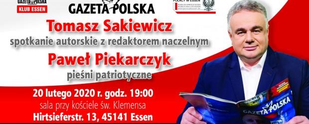 Essen: Zaproszenie na spotkanie z Tomaszem Sakiewiczem oraz Pawłem Piekarczykiem.