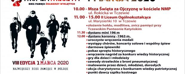 Tczew: Zaproszenie na Bieg Pamięci Żołnierzy Wyklętych. Tropem Wilczym. 1 marca godz. 10:00