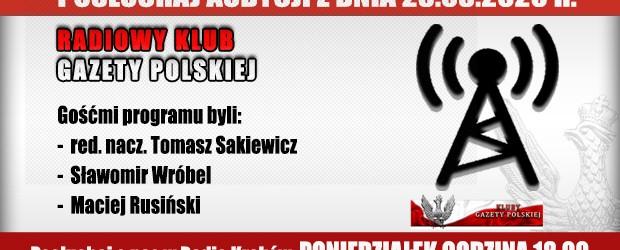 """POSŁUCHAJ AUDYCJI: """"Radiowy Klub Gazety Polskiej"""" – 23.03.2020 r.(audio)"""