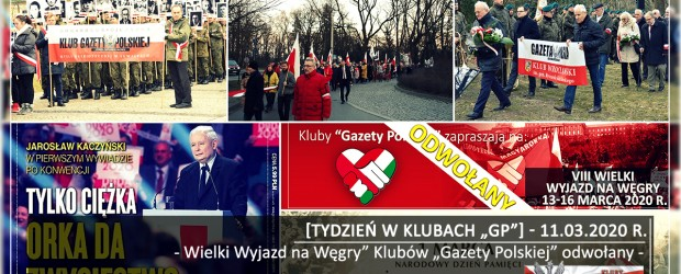 """[Tydzień w Klubach """"GP""""] Wielki Wyjazd na Węgry"""" Klubów """"Gazety Polskiej"""" odwołany"""