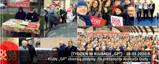 """[Tydzień w Klubach """"GP""""] Kluby """"GP"""" zbierają podpisy dla prezydenta Andrzeja Dudy"""