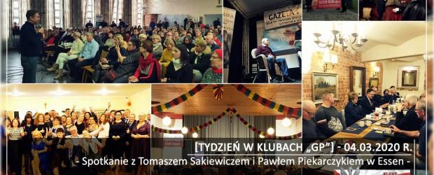 """[Tydzień w Klubach """"GP""""] Spotkanie z Tomaszem Sakiewiczem i Pawłem Piekarczykiem w Essen"""