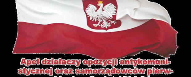 Dzierżoniów II – Apel działaczy opozycji antykomunistycznej oraz samorządowców pierwszej kadencji z lat 1990-94
