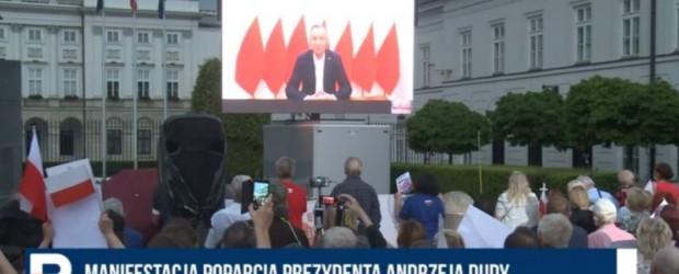 """Prezydent Duda: O polskie sprawy trzeba dbać z poczuciem godności. Kluby """"GP"""" tak robią (wideo)"""