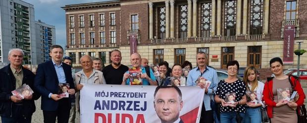 DUDA 2020| Akcja poparcia Andrzeja Dudy w Dąbrowie Górniczej