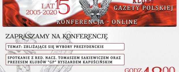 KLUBY GP ONLINE | Spotkanie z red. nacz. T. Sakiewiczem oraz prezesem R. Kapuścińskim 21 czerwca, g. 18.00