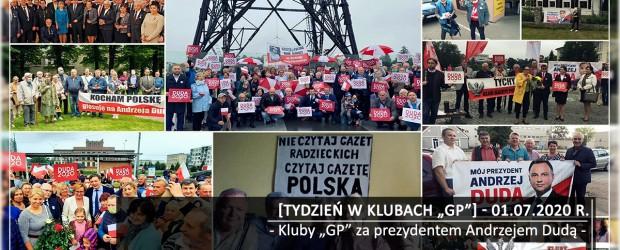 """[Tydzień w Klubach """"GP""""] Kluby """"GP"""" za prezydentem Andrzejem Dudą"""