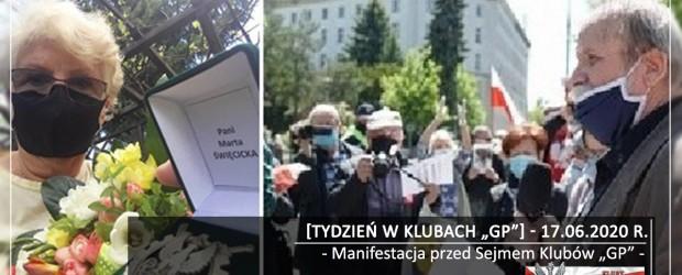 """[Tydzień w Klubach """"GP""""] Manifestacja przed Sejmem Klubów """"GP"""""""